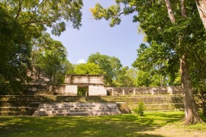 The Mayan site of Cahal Pech in San Ignacio, Belize
